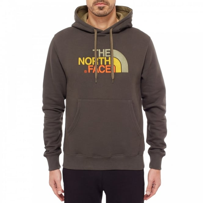 6dac168f The North Face Mens Drew Peak Pullover Hoodie Black Ink Green - Mens ...