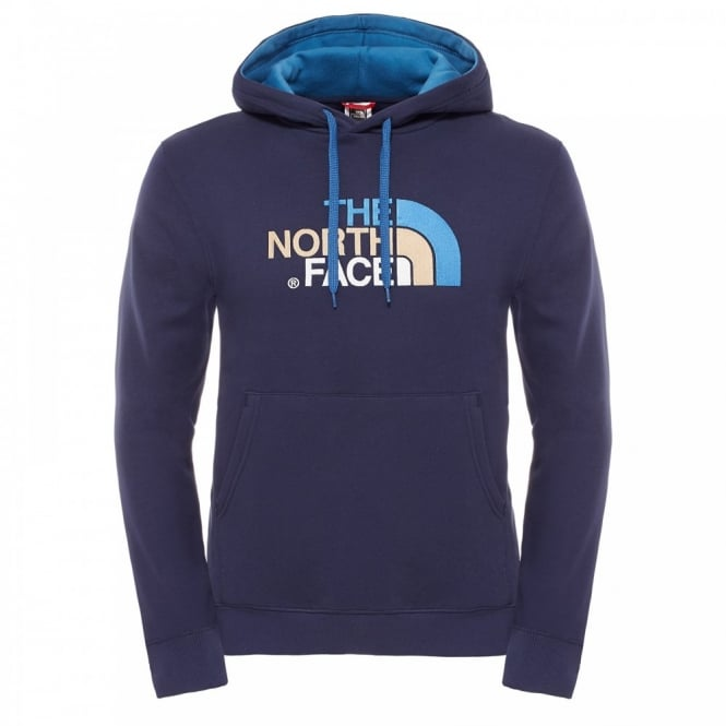 accbd54d The North Face Mens Drew Peak Pullover Hoodie Cosmic Blue/Brick ...