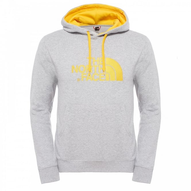 84391b7633 The North Face Mens Drew Peak Pullover Hoodie Heather Grey TNF ...
