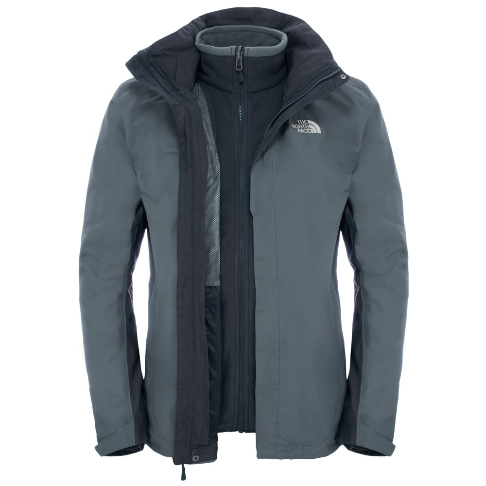 bcbf33b69bf6 The North Face Mens Evolution II Triclimate Jacket Fusebox Grey ...