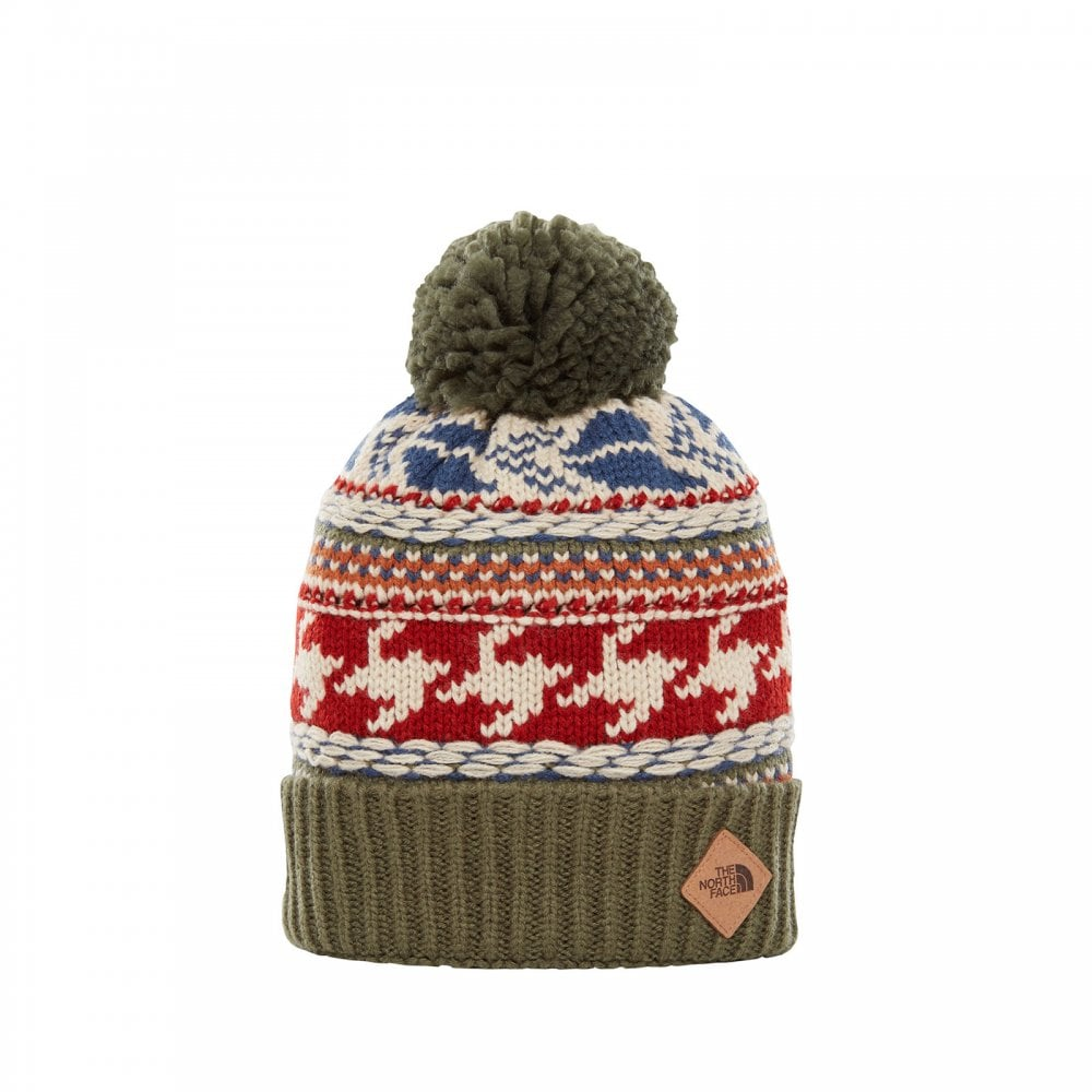 59c5c35b6 Mens Fair Isle Beanie Four Leaf Clover Multi