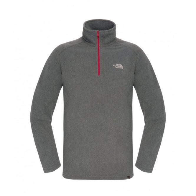 34f474252 Mens Glacier 100 1/4 Zip Fleece Graphite Grey/Red