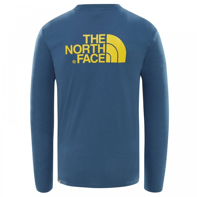 55d8e853d097 The North Face Mens Long Sleeve Easy T-Shirt Shady Blue/Leopard ...
