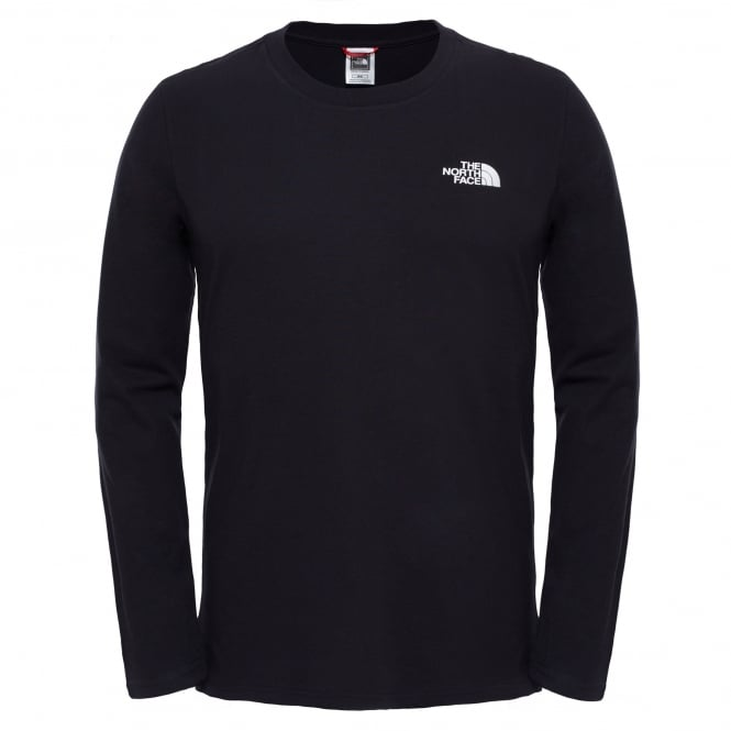 The North Face Mens Long Sleeve Easy Tee Black