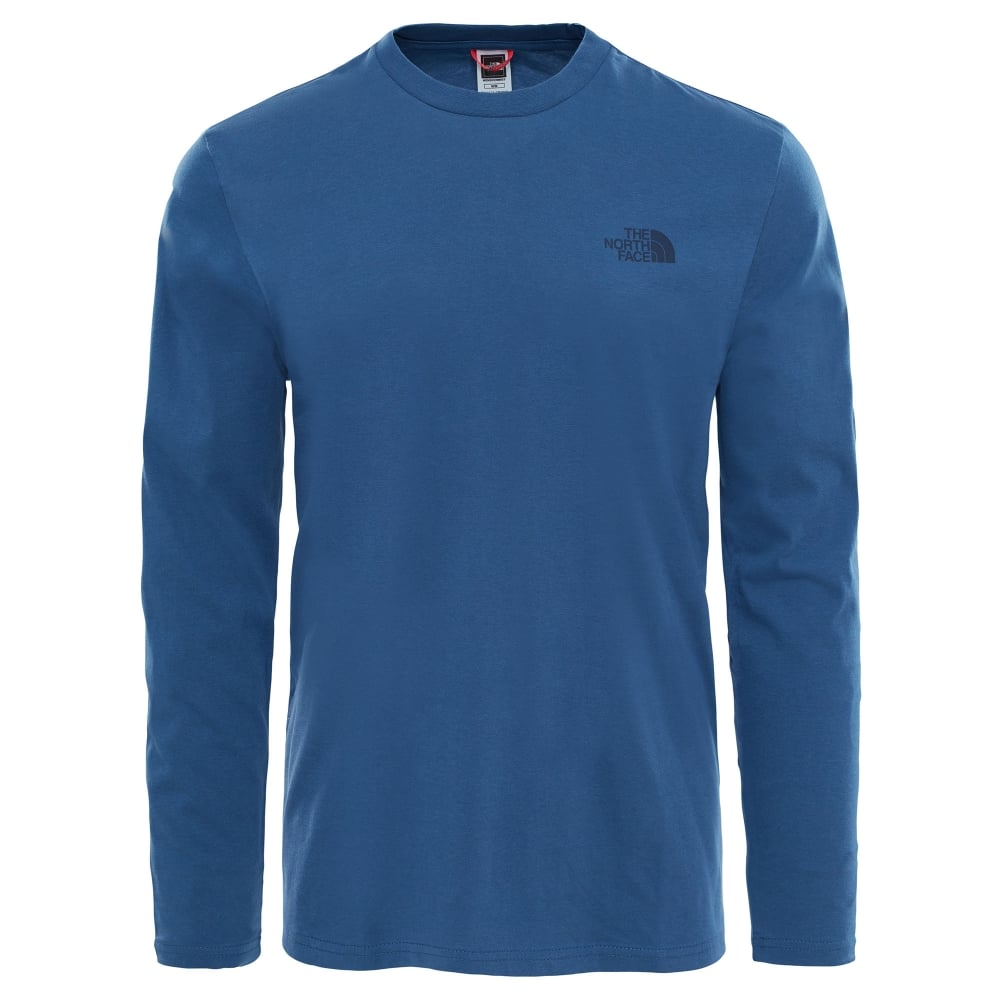 The North Face Mens Long Sleeve Easy Tee Shady Blue - Mens from ... 9b4b5a95410