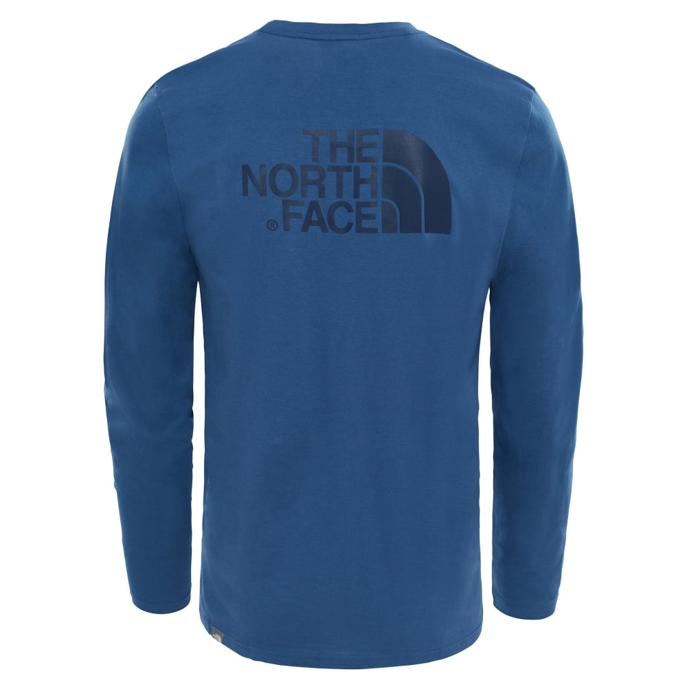 49185b0fb704 The North Face Mens Long Sleeve Easy Tee Shady Blue - Mens from ...
