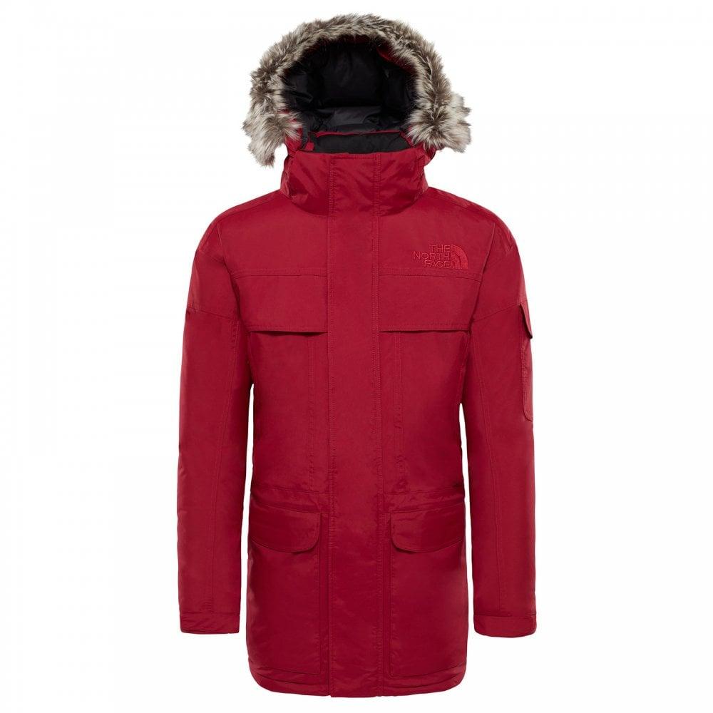 North Face Mens McMurdo Parka Rumba Red