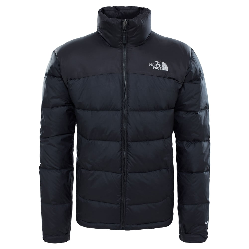 the north face mens nuptse 2 jacket black high rise grey mens from great outdoors uk. Black Bedroom Furniture Sets. Home Design Ideas