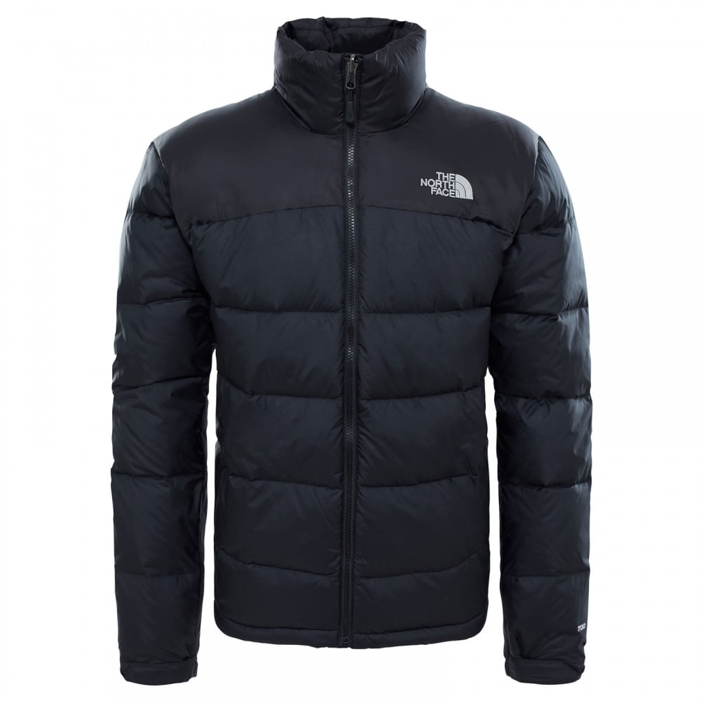 80eccaced Mens Nuptse 2 Jacket TNF Black/High Rise Grey