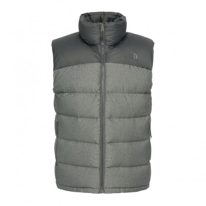 6421cb80bb67 The North Face Men s Grey Heather Asphalt Grey Nuptse 2 Vest