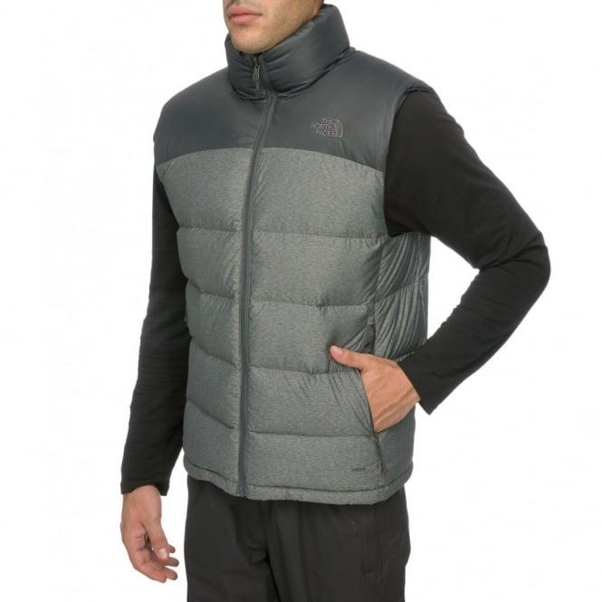 The North Face Men s Grey Heather Asphalt Grey Nuptse 2 Vest a143aca9828d