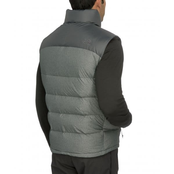 e2c42f78a011 The North Face Men s Grey Heather Asphalt Grey Nuptse 2 Vest