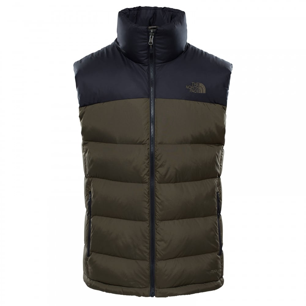 de1a8072eeee The North Face Mens Nuptse 2 Vest TNF Black New Taupe Green - Mens ...