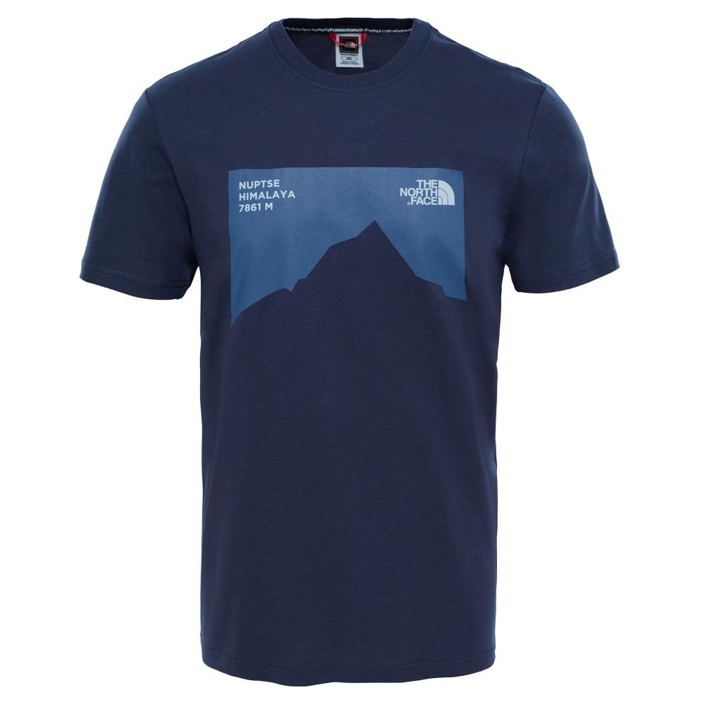 The North Face Mens Nuptse Celebration T-Shirt Urban Navy - Mens ... e28485e4c