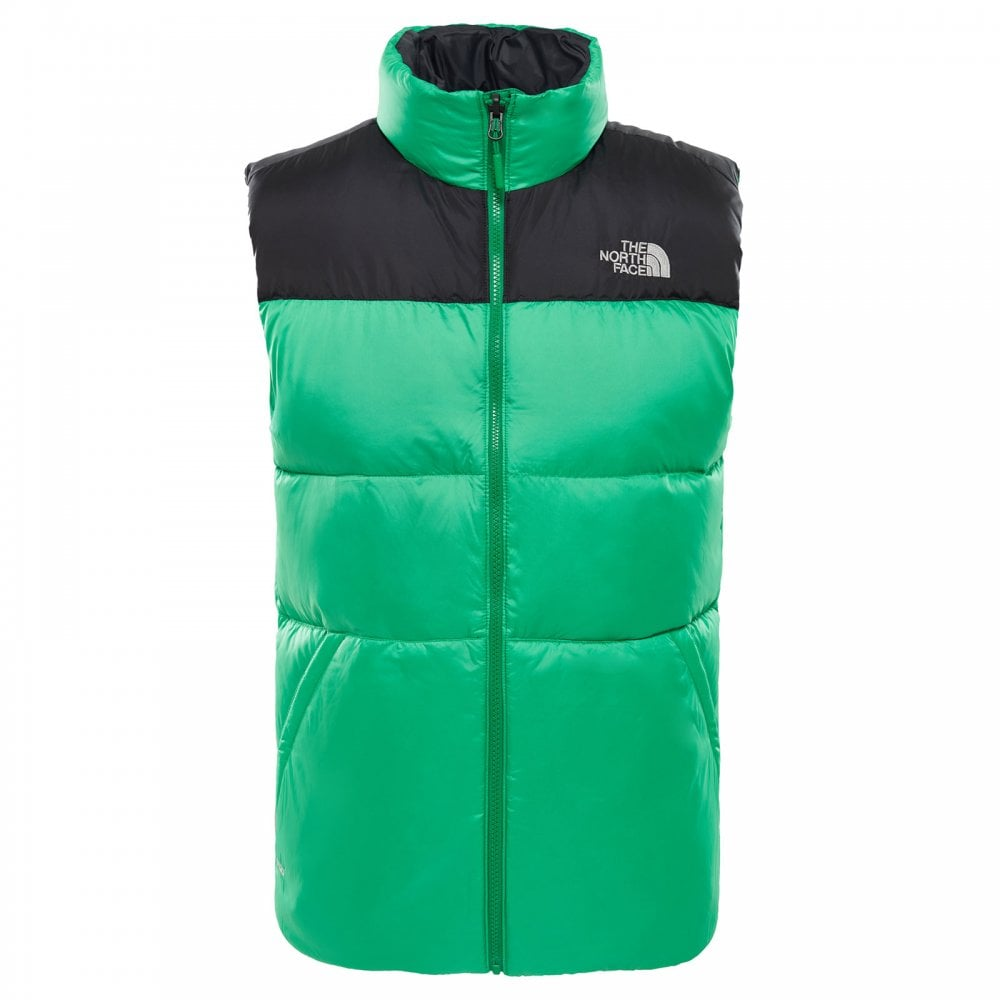 3acf9f2d37a81 Mens Nuptse III Vest Primary Green/TNF Black