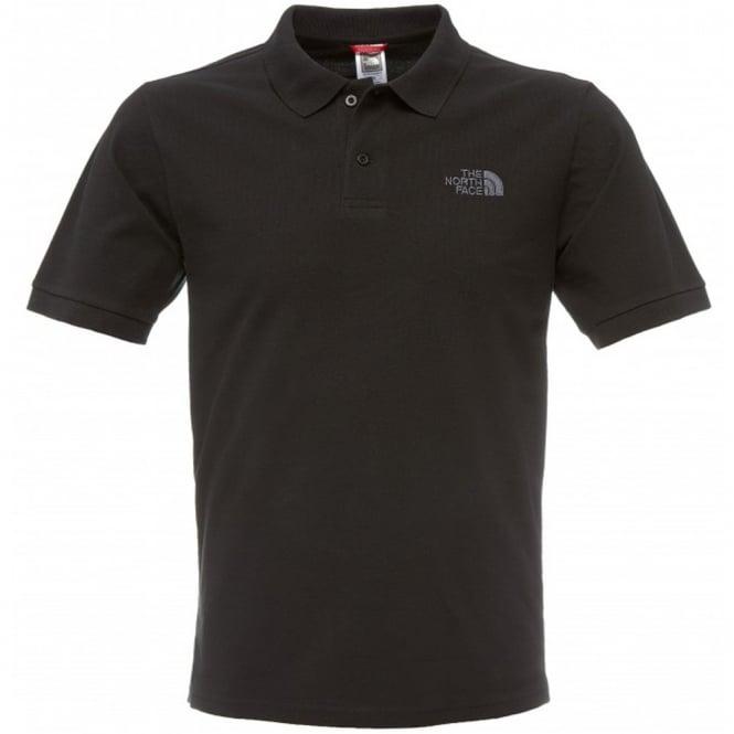 The North Face Mens Black Polo Piquet T Shirt