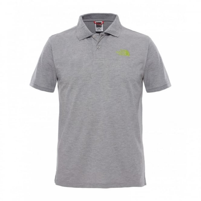bf4370e4c Mens Polo Piquet T-Shirt TNF Medium Grey