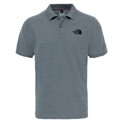 Mens Polo Piquet T-Shirt TNF Medium Grey