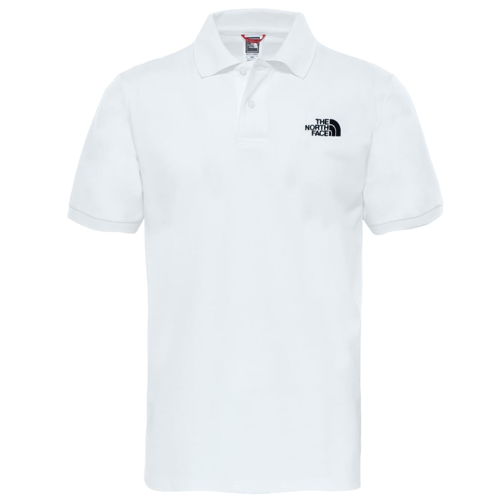 465929136 Mens Polo Piquet T-Shirt White/Blk