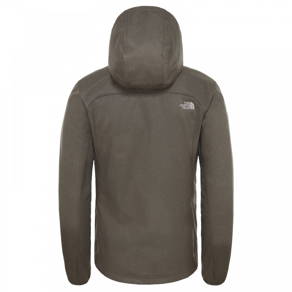 Mens Quest Hooded Softshell Jacket New Taupe Green