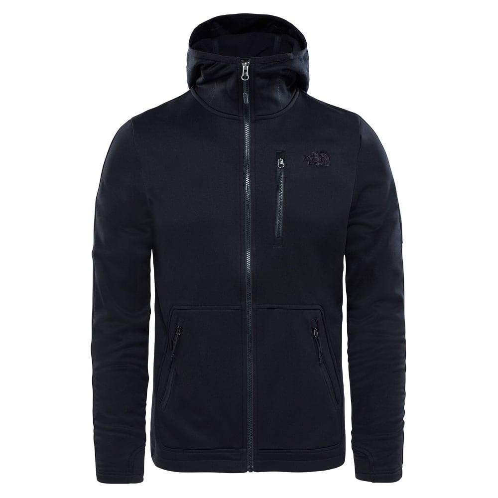 d9eac6c7d The North Face Mens Rafford Full Zip Fleece Hoodie Black/Black