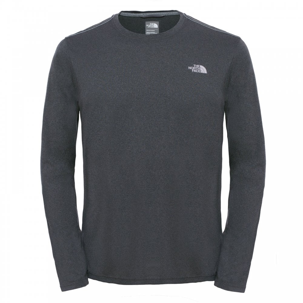 462809469 Mens Reaxion Ampere Long Sleeve T-Shirt TNF Dark Grey Heather