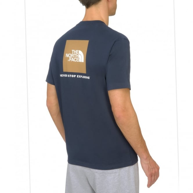 1781ef0a9 The North Face Mens Cosmic Blue Red Box T-Shirt