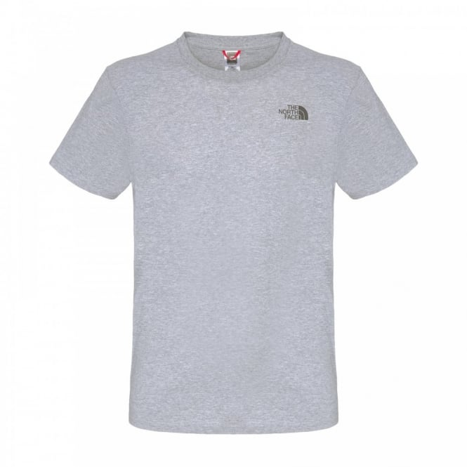 7ad225133 Mens Short Sleeve Simple Dome T-Shirt Heather Grey