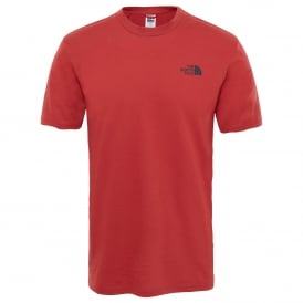 Mens Short Sleeve Simple Dome Tee Bossa Nova Red