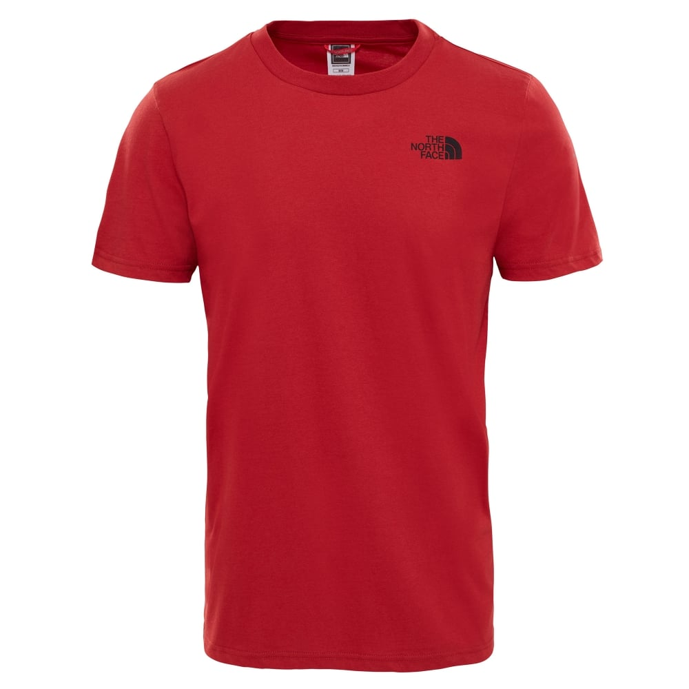 554285aae34a The North Face Mens Short Sleeve Simple Dome Tee Cardinal Red - Mens ...
