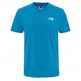 Mens Short Sleeve Simple Dome Tee Cendre Blue