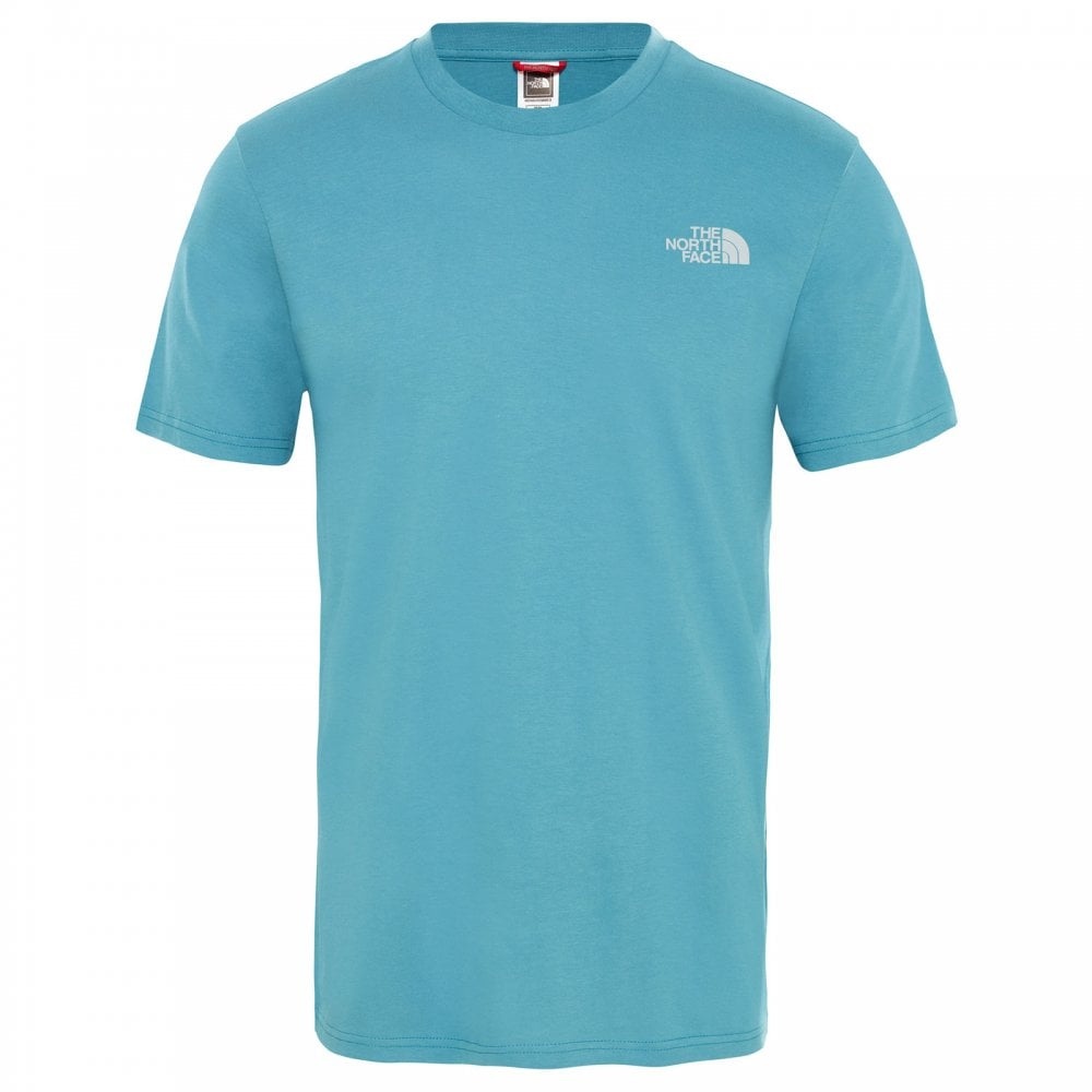 c0d539ca8497 The North Face Mens Short Sleeve Simple Dome Tee Storm Blue - Mens ...