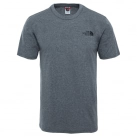 Mens Short Sleeve Simple Dome Tee TNF Medium Grey