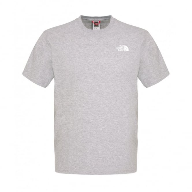 1587c7f4cdf The North Face Mens Heather Grey Red Box T-Shirt