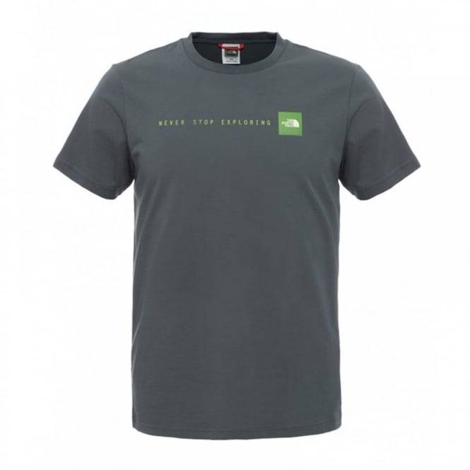 30c3cb53c The North Face Mens Short Sleeve T-Shirt Spruce Green