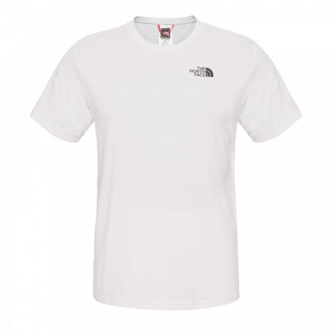 The north face mens short sleeve t shirt tnf white mens for The north face short sleeve shirt