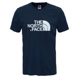 Mens Short Sleeve T-Shirt Urban Navy/White