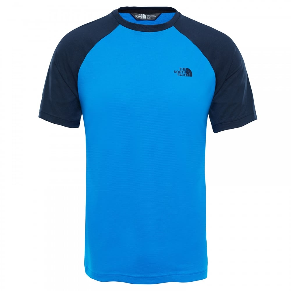 2874f3618 Mens Tanken Raglan T-Shirt Urban Navy/Bomber Blue