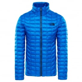 Mens Thermoball Full Zip Jacket Bomber Blue