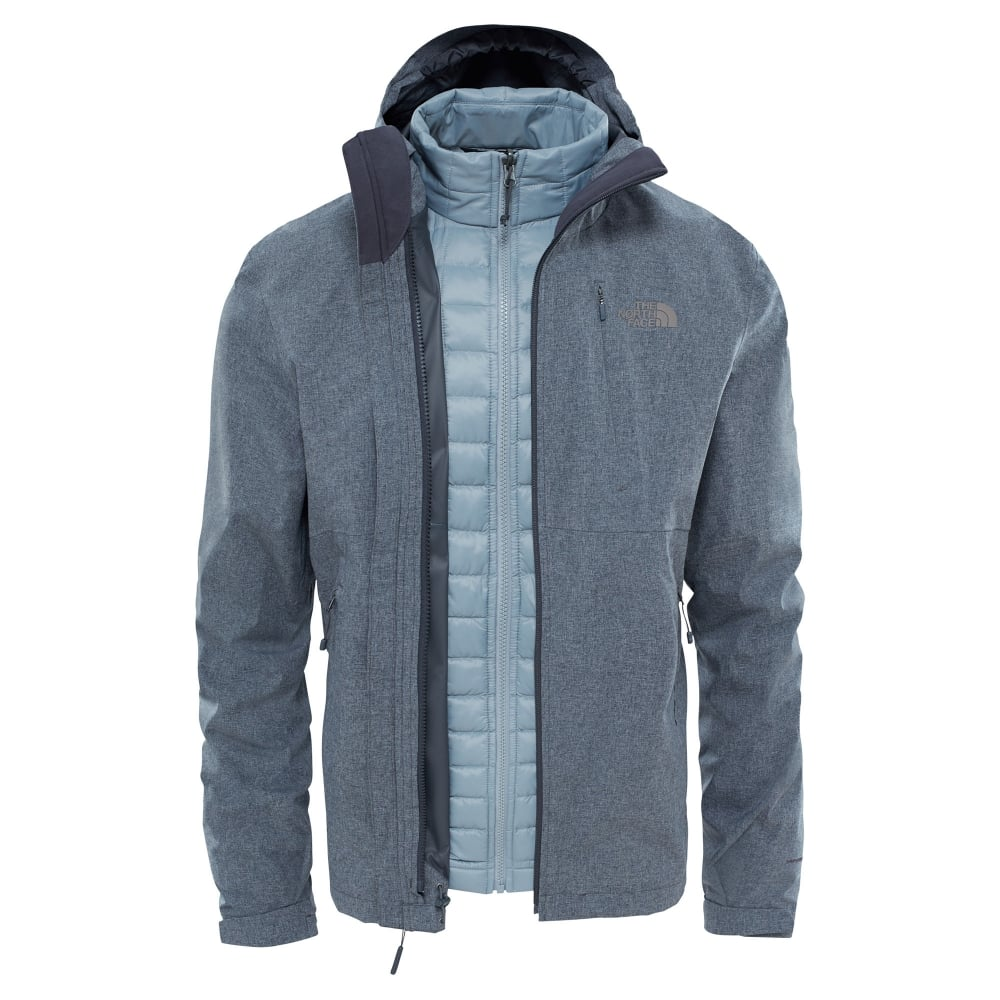 e5b07c57c359 The North Face Mens Thermoball Triclimate Jacket TNF Dark Grey ...