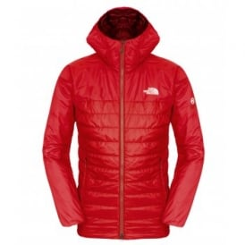 Mens Victory Hooded Jacket Salsa Red/TNF Black
