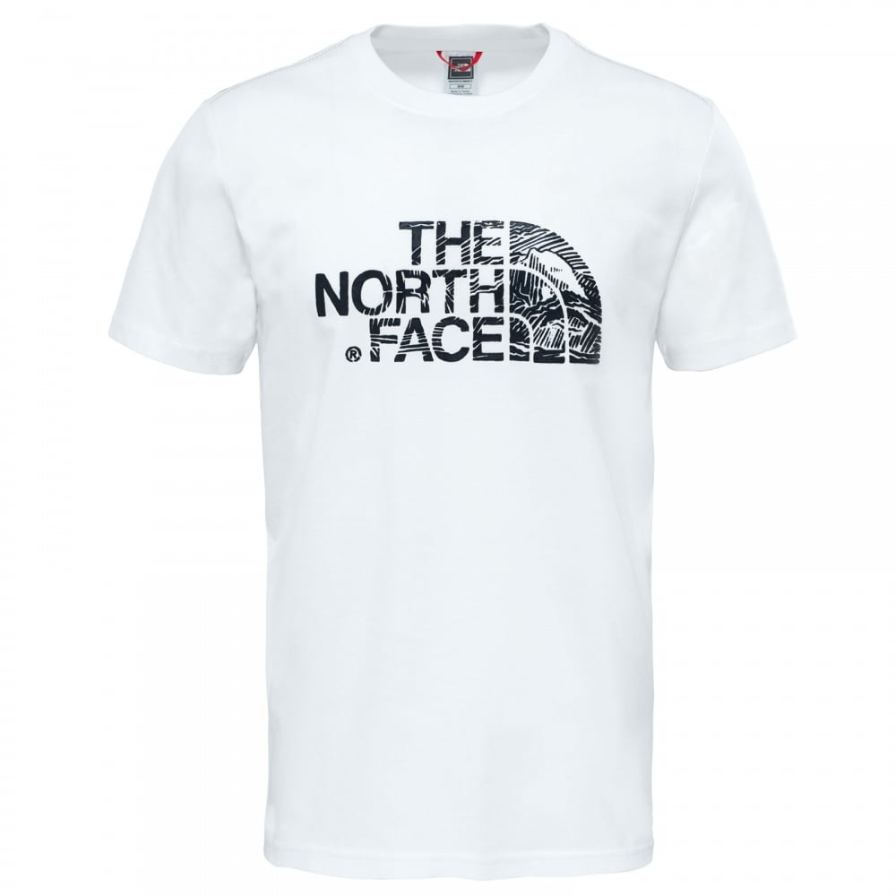 08d82554f The North Face Mens Wood Dome T-Shirt TNF White/TNF Black - Mens ...