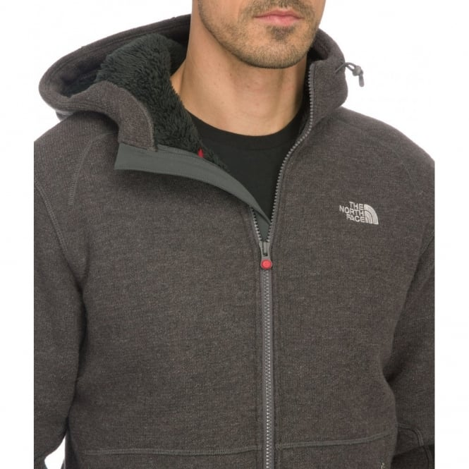 ec0567598165 The North Face Men s Heather Grey Zermatt Full Zip Hoodie Jacket