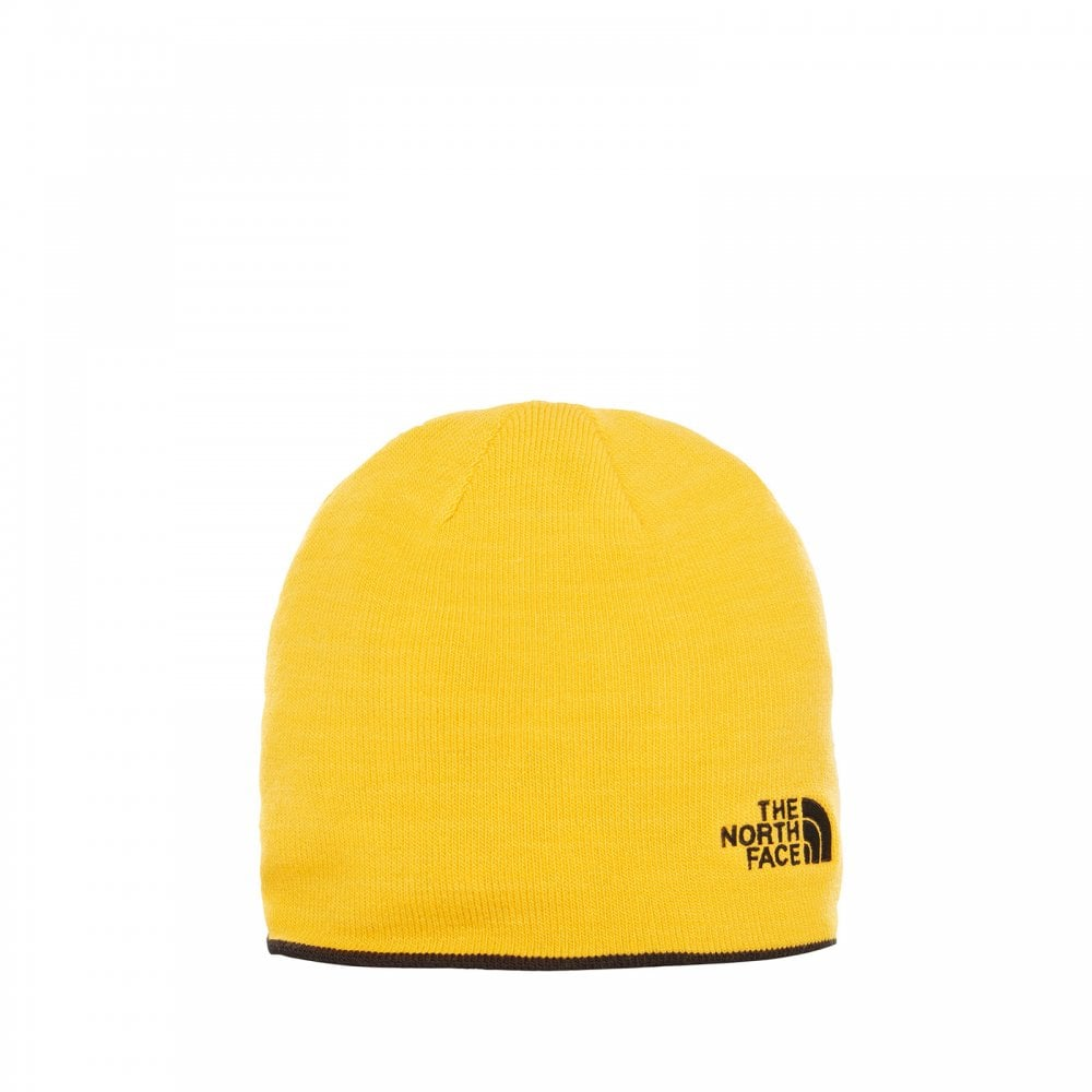 The North Face Reversible TNF Banner Beanie TNF Black TNF Yellow ... 36a235bec31