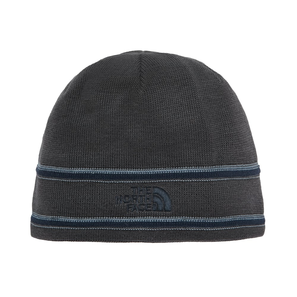 3faaa889 The North Face TNF Logo Beanie Graphite Grey/Urban Navy - Mens from ...