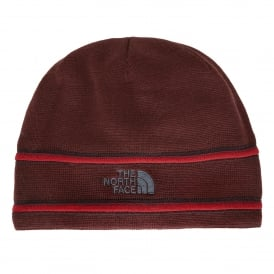 TNF Logo Beanie Sequoia Red/Asphalt Grey