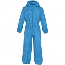 Boys Button All in 1 Rainsuit Cobalt