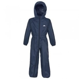 Button All-in-1 Rain Suit Navy
