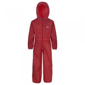 Button All-in-1 Rain Suit Signal Red