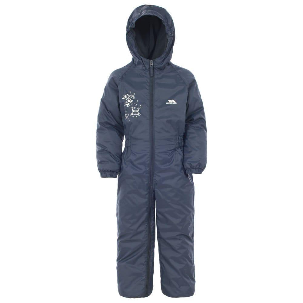 Trespass Girls Button II Waterproof Breathable Elasticated Rain Suit